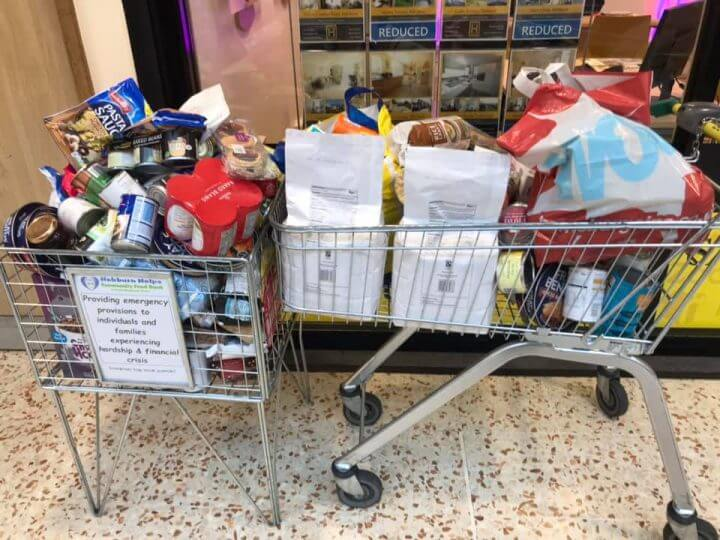 Trolley Full Of Food For Hebburn Helps